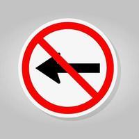 n'allez pas à gauche par les flèches de la route de la circulation vecteur