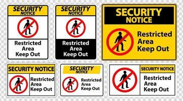 avertissement de sécurité zone réglementée garder hors vecteur