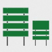 panneau de signalisation vert panneaux de signalisation routière vecteur
