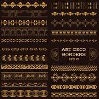 bordures vintage art déco et éléments de conception dessinés à la main en vecteur