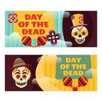 Bannière du jour du mort vecteur
