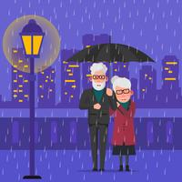 Grands-parents romantiques vecteur