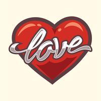 paix et amour vecteur