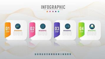 conception carrée infographique vecteur