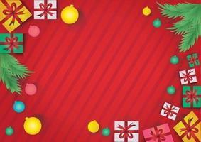 fond rouge du nouvel an il y a de la place pour le texte souhaité vecteur