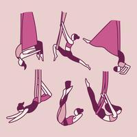 Personnes faisant des acrobaties avec des élastiques