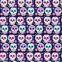 Jour de vecteur du motif des crânes morts