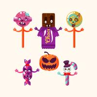 Bonbons d'halloween vecteur