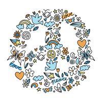 Symbole de la paix vecteur