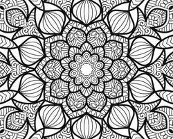 Doodle mandala pages de livre de coloriage pour adultes et enfants détente amusement anti stress yoga méditation motifs ornementaux décoratifs vecteur