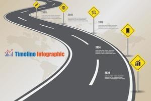business road map chronologie infographie icônes conçues pour résumé fond modèle élément diagramme moderne processus pages web technologie marketing numérique données présentation graphique illustration vectorielle vecteur