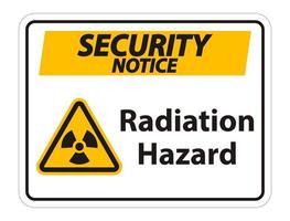 signe de symbole de danger de rayonnement vecteur