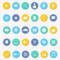 Vecteur d'icône de médias sociaux Collection