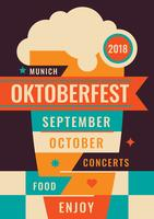 Dépliant d'Oktoberfest vecteur