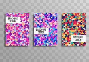 Vecteur de modèle de brochure géométrique buisness coloré