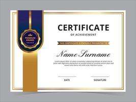 conception de vecteur de modèle de certificat