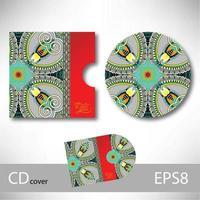 conception de couverture de cd vecteur
