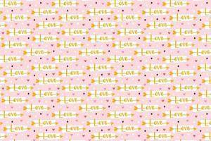 saint valentin vacances amour clipart cupidon flèche avec amour lettrage relation émotion passion modèle texture papier emballage conception vecteur