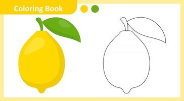 livre de coloriage citron vecteur