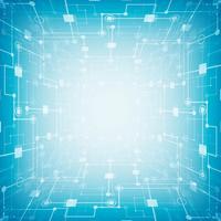 Circuit imprimé futuriste abstrait, technologie informatique de pointe