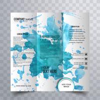 Design de brochure à trois volets moderne vecteur