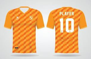 modèle de maillot de sport jaune pour les uniformes d'équipe et la conception de t-shirt de football vecteur