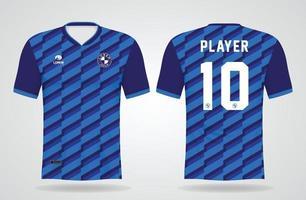 modèle de maillot de sport bleu pour les uniformes d'équipe et la conception de t-shirt de football vecteur