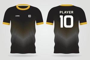 modèle de maillot de sport en or blanc noir pour les uniformes d'équipe et la conception de t-shirt de football vecteur