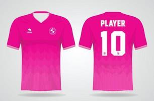 modèle de maillot de sport rose pour les uniformes d'équipe et la conception de t-shirt de football vecteur
