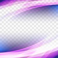 Fond abstrait vague coloré transparent affaires vecteur