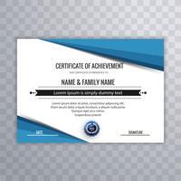 Modèle de certificat pour la réussite d'obtention du diplôme vecteur