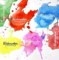 fond aquarelle coloré moderne vecteur