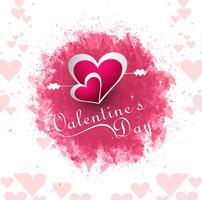 Joyeux Saint Valentin carte de voeux rose fond vecteur