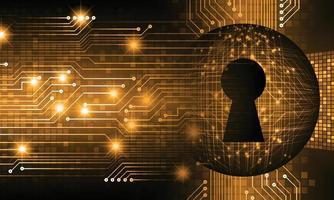 Cadenas fermé sur la cybersécurité de fond numérique vecteur