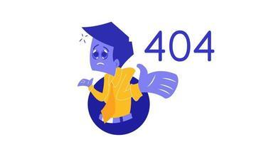 page de caractère de confusion 404 vecteur