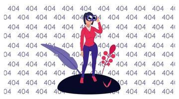 numéro de modèle de page de destination 404 vecteur