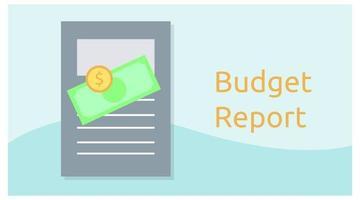 modèle de fond emblématique de rapport budgétaire vecteur
