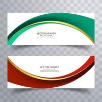 Arrière-plan de conception abstraite ou modèles d'en-tête avec wav créatif vecteur