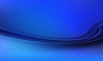 Fond de vague bleu technologie abstraite vecteur