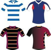 maquettes de chemise de rugby vecteur