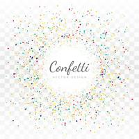 Fond de confettis colorés abstraits vecteur