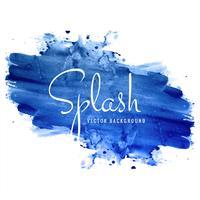 Fond splash aquarelle bleu dessiné main belle vecteur