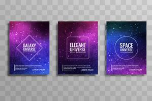 Ensemble de brochure d'affaires de galaxie moderne vecteur