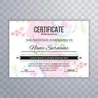 Gabarit de certificat Premium diplôme diplomé floral illu