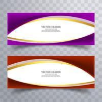 Bannière de site Web abstrait avec arrière-plan de conception d'onde vecteur