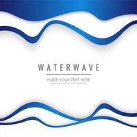 Fond de vague d'eau moderne vecteur
