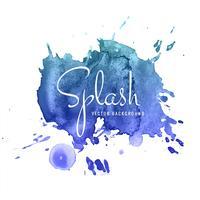 Aquarelle abstraite fond bleu design vecteur