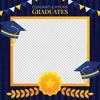 fond de photomaton de graduation vecteur