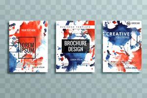 ensemble de brochures d'affaires moderne coloré vecteur