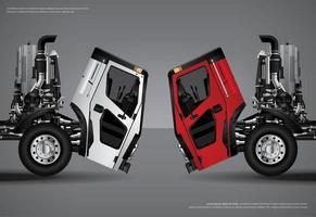 illustration vectorielle d'affiche de transport de camions de fret vecteur